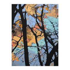 NOVICA Giclee Print Artists Collectible Landscape Painting (13,860 INR) ❤ liked on Polyvore featuring home, home decor, wall art, blue, expressionist paintings, paintings, tree canvas wall art, blue canvas wall art, tree wall art and blue tree