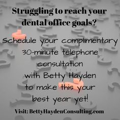 Are you ready to make this your best year yet? Stop struggling! It's time to get the help you need to reach and hopefully exceed your dental practice goals! Dental Practice Management, Dental Bridge, Best Yet, To Reach, Dental Health, Chiropractic, Dental Offices, A Team, The Help