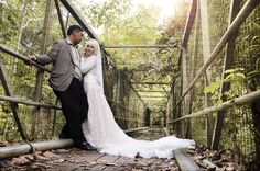 at the bridge prewedding session
