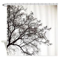 tree girl shirt Shower Curtain on CafePress.com