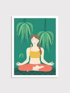 Yoga Poser Print