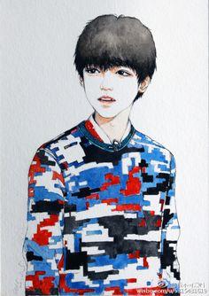 #王俊凯##TFBOYS王俊凯饭绘#  (cr:@我不可爱吗-