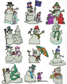 Snowmen Set 2