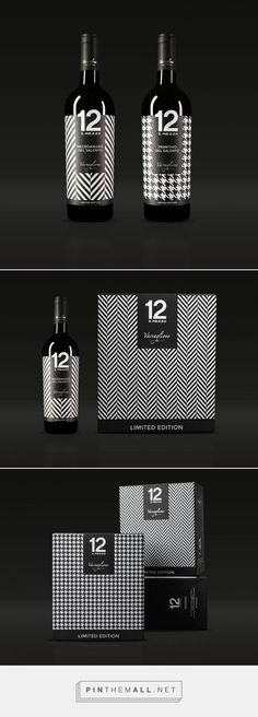 Etichette Vini Limited Edition Varvaglione  By Idem Design curated by Packaging Diva PD.  Don't you just love the patterns in this black and white packaging?
