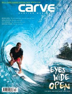 Mitchy got the cover of Carve Magazine