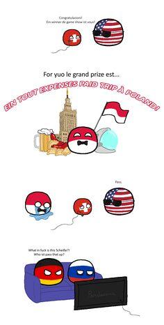 Pass (USA, Switzerland, Poland, Germany, Russia) by koleye #polandball #countryball