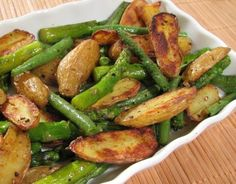 For the Love of Cooking » Roasted Fingerling Potatoes, Asparagus and Green Beans