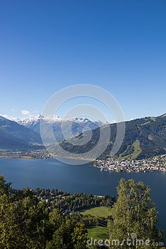 View From Mitterberg To Zell Am See Lake Zell & Kitzsteinhorn Stock Image - Image of beautiful, mountains: 60258929 Zell Am See, Salzburg, Autumn Fall, Alps, My Images, Sunny Days, Austria, Colorful, Seasons