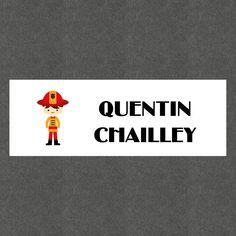"""16 Etiquettes scolaires personnalisées Thème """"Pompier Garçon"""" : Stickers par creerpourvous"""