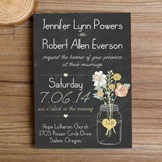 boho mason jax¡♤♤■■>♢♧×//___€ nraxn,   ?rs rustic floral chalkboard wedding invitations EWI344