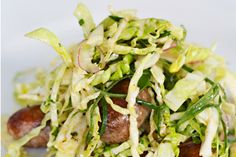 Pork and fennel sausages with cabbage and red wine vinegar – Recipes – Bite