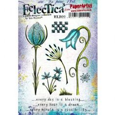 Paperartsy Stamps: Eclectica³ - Lin Brown Series 22