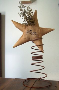 Primitive Believe Star on Rusty spring with Sweet by daizydonna