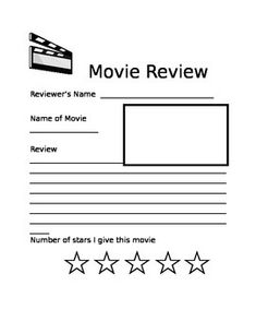 Movie Review Template For Kids  School Days