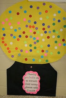 Gum ball machine with 100 gumballs for 100th day of school.