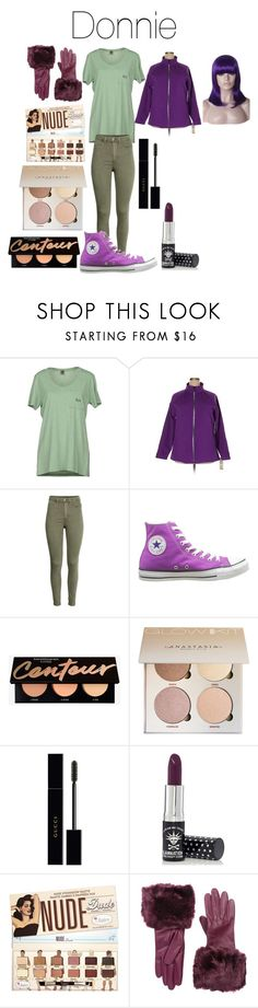 """""""Donatello or Donnie from Teenage Mutant Ninja Turtles"""" by tori-camilleri on Polyvore featuring Jijil, Ideology, Converse, Gucci, Manic Panic NYC, Ted Baker and WithChic"""