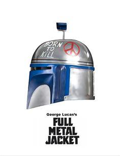 Star Wars: Born to Kill by Cüneyt Özalp, via Behance Star Wars Film, Star Wars Poster, Star Wars Art, Jango Fett, Star Wars Boba Fett, Star Wars Pictures, Star Wars Images, Full Metal Jacket, Star Wars Jokes