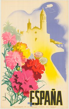 Espagne oversize canvas giclees travel Vintage Spain Travel and Tourism Posters, Art, and Prints - from Enjoy Art. Retro Poster, Vintage Travel Posters, Vintage Postcards, Vintage Ads, Vintage Style, Poster Prints, Framed Prints, Art Prints, Tourism Poster