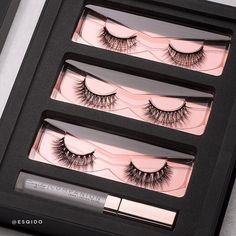 Triple threat.  The NEW Raven's Wing lash kit features a trio of multi-curl lashes from the Noire Collection. This set is everything you need for max volume lashes!  #esqido #falselashes #makeup #holidays