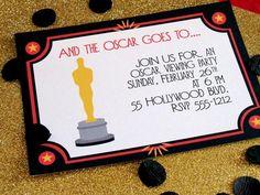 Oscar Party Invitation by Cupcake Wishes & Birthday Dreams