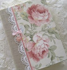 Journal Vintage Roses Upcycled Paper Beaded Cover by Daisyblu, $24.00  #capsteam #wwes Great Gift Idea