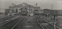 station near the eastern border of U. [The old Sydney Terminal (Redfern) Railway Station in 1900 looking north. The Rocks Sydney, Sydney City, Blue Mountain, Historical Pictures, Sydney Australia, South Wales, Family History, Genealogy, Old Photos