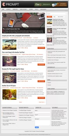 Prompt Blogger Template:  Prompt is a Clean, Free Responsive Blogger Template with a Right Sidebar and 4 Columns Footer. Prompt Blogger Template has a Featured Posts Slider, Dropdown Navigation Menu, Header Banner, Related Posts with Thumbnails, Breadcrumb, Social and Share Buttons, Google Fonts, Tabbed Widget and More Features.  http://www.premiumbloggertemplates.com/prompt-blogger-template/
