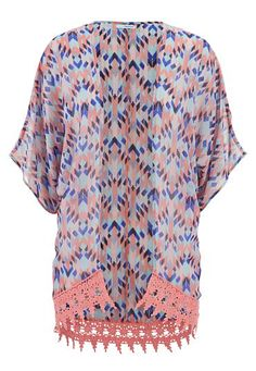 ethnic print chiffon kimono with crochet hem (original price, $34) available at #Maurices Style Number: 39298
