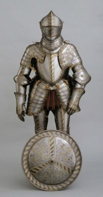 Field and tournament armour of Friedrich Wilhelm I, Duke of Saxe-Altenburg. German, Augsburg, about 1590. Made by Anton Peffenhauser and probably decorated by Jorg Sorg the Younger