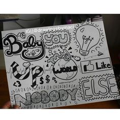 What Makes You Beautiful Lyrics, well, the One Direction boys are so adorable, and little do they know, everything makes me beautiful! One Direction Drawings, Lyric Drawings, Drawing Quotes, Love Drawings, Easy Drawings, Drawing Drawing, Doodle Quotes, Doodle Art, Art Quotes
