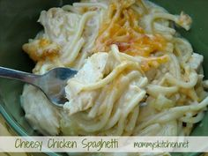 Mommys Kitchen: Old Fashioned Cheesy Chicken Spaghetti
