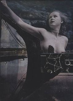 Joseph Cornell ~ Untitled (Ship with Nude) collage Joseph Cornell, Cornell Box, Claude Monet, Photomontage, Pablo Picasso, Vincent Van Gogh, Portraits, Assemblage Art, Fantastic Art