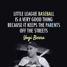 Little League Baseball - Yogi Berra New York Yankees Baseball, Cardinals Baseball, Baseball Mom, Baseball Stuff, Ny Yankees, Damn Yankees, Baseball Park, Softball Stuff, Baseball Quotes