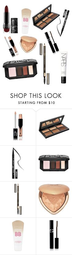 """""""Makeup Set<3"""" by btslovervkook ❤ liked on Polyvore featuring beauty, Kat Von D, Rossetto, Clarins, Too Faced Cosmetics, Maybelline, Sisley and NARS Cosmetics"""