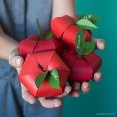 Paper Apples for Back to School
