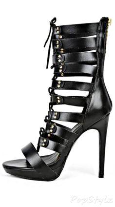 TRISTA-3 Lace Up Gladiator Sandals