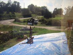 How to Make an Adult Slip-N-Slide!  Nana did this for the kids!  Now I want an adult size slip & slide!