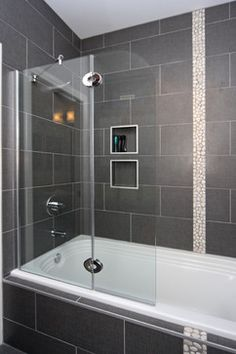Guest Bathroom Remodel: jacuzzi tub shower combo | ... tub, so we ...