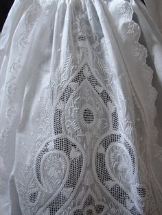 Fine 19th C. Chikan Whitework Christening Gown