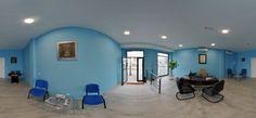 Panorámica del interior de una oficina.