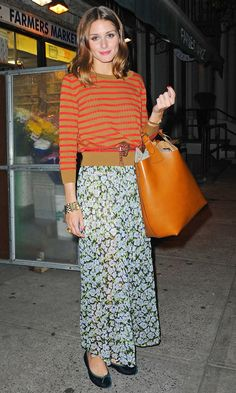 Olivia Palermo's Style Choices:Topshop Floral Skirt