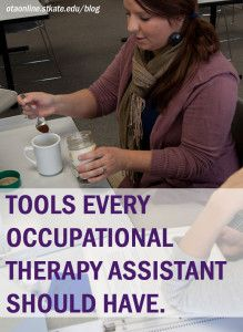 Occupational therapy assistants use common household items to help patients accomplish daily tasks. Get creative and use these tools every OTA should have. Ot Therapy, Therapy Quotes, Therapy Tools, Physical Therapy, Therapy Ideas, Stroke Therapy, Physical Education, Special Education, Geriatric Occupational Therapy