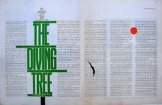 The Saturday Evening POST, 1961.  Design by Herb Lubalin.