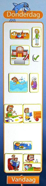 voorbeeld planbord pictogrammen dag