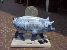 The Fifth Third Piggy Bank in Cincinnati's Big Pig Gig