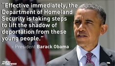President Obama today speaking on his new immigration policy
