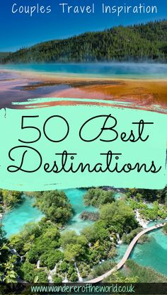 Whether you're a couple that loves nature, culture, food or city breaks, we've got you covered in this list of the 50 best travel destinations for couples. Us Travel Destinations, Romantic Destinations, Romantic Vacations, Romantic Travel, Amazing Destinations, Places To Travel, Romantic Places, Tahiti, Solo Travel