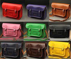 """13""""14""""15"""" Vintage classic cambridge satchel Shoulder Bag multi colors"""