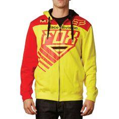 Fox Racing Mens Roczen Fleece Hoody Zip Sweatshirt, Blazing Yellow, Large Color: Blazing Yellow. Size: Large. Fox Racing Roczen Fleece Authentic Hoody Zip Sweatshirt for Men.  #Fox_Racing #Apparel