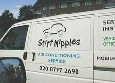 BAHAHAHA!  This is almost as good as the plumbing vans decorated with a guy sitting on the toilet on their driver door!